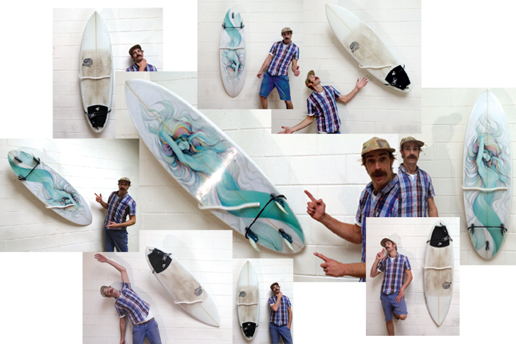 pro Surfboard Mount, For Hanging Your Surfboard as a Wall Art ...